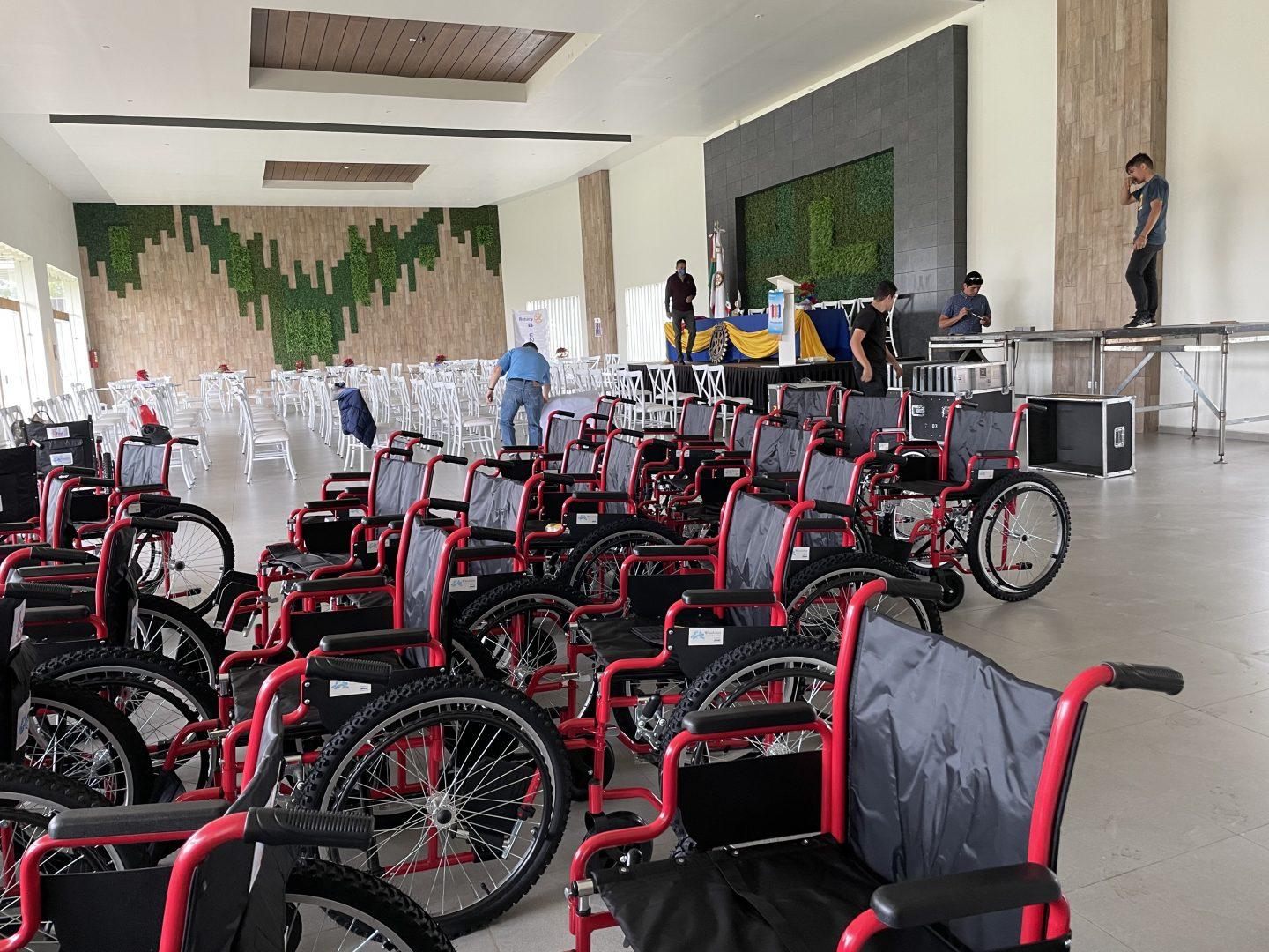 an army of wheelchairs